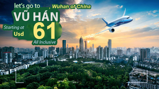 Vé máy bay đi Vũ Hán Trung Quốc