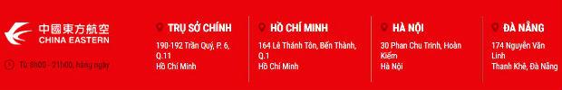 Các văn phòng đặt vé tại TPHCM, Hà Nội và Đà Nẵng