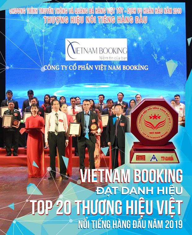 Vietnambooking đạt giải thưởng top 20 thương hiệu