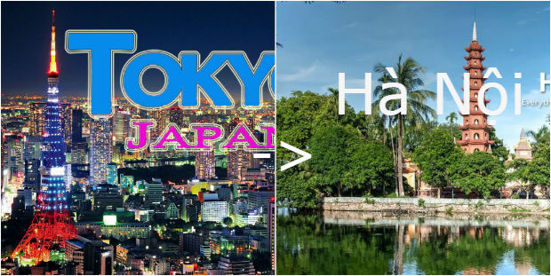 Vé máy bay từ Tokyo đến Hà Nội