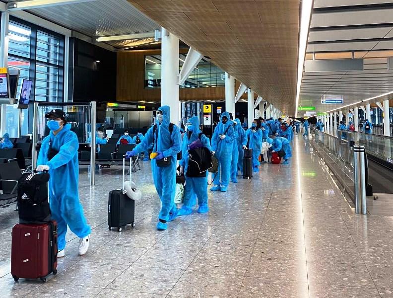 Chuyến bay chuyên gia từ Tây Ban Nha về Việt Nam