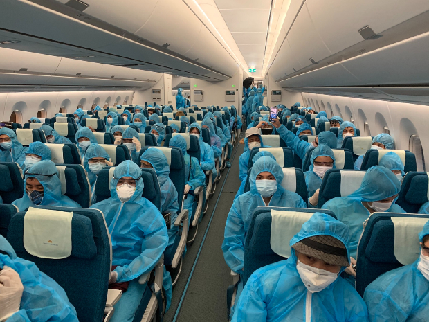 chuyến bay đưa người từ Nhật về Việt Nam