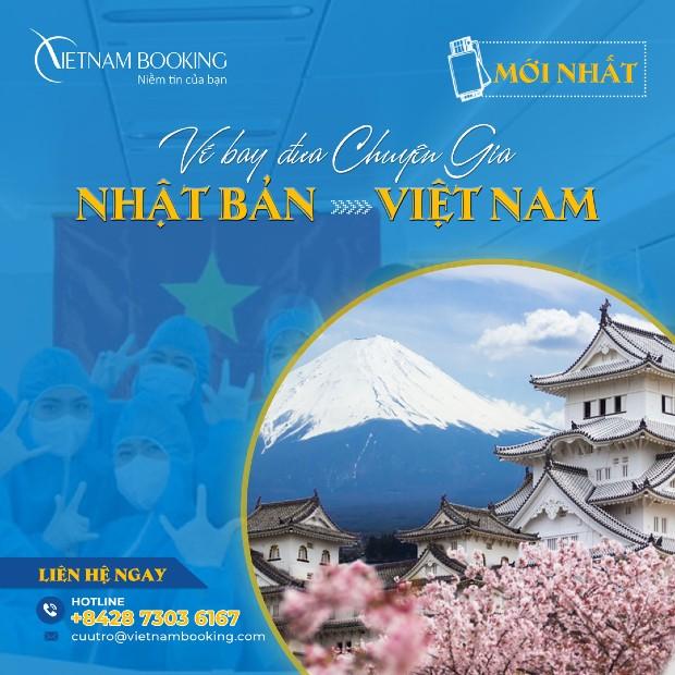 Chuyến bay từ Tokyo về Việt Nam